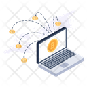 Bitcoin Network Cryptocurrency Network Bitcoin Connections Icon