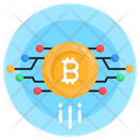 Bitcoin Network Money Network Financial Network Icon