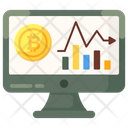 Cryptocurrency Report Online Analytics Data Analytics Icon