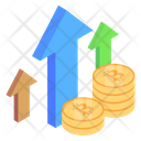 Bitcoin Growth Crypto Growth Cryptocurrency Rise Icon
