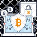 Bitcoin Security Digital Money Protection Bitcoin Lock Icon