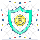 Financial Protection Financial Insurance Cryptocurrency Security Icon