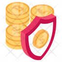 Bitcoin Safety Cryptocurrency Security Business Protection Icon