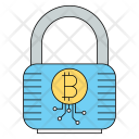 Lock Bitcoin Cryptocurrency Icon