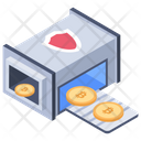 Cryptocurrency Transaction Machine Icon