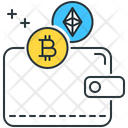 Cryptocurrency Wallet Bitcoin Ethereum Icon