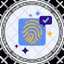 Fingerprint Key Safety Icon