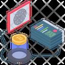 Cryptographic Signature Authentication Biometric Icon