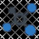 Crystal Atom Molecule Icon
