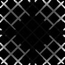 Crystal Flake Snowflake Icon