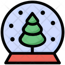 Christmas Tree Magic Ball Icon