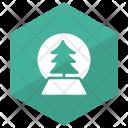 Crystal Ball Christmas Decoration Icon