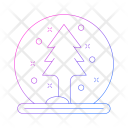 Crystal Ball Tree Ball Icon