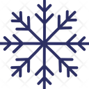 Crystal Flake Snow Falling Snowflake Icon