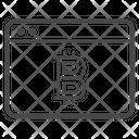 Bitcoin Webpage Bitcoin Crypto Icon