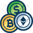 Trade Blockchain Cryptocurrency Icon