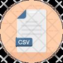 Csv Csv File File Format Icon