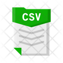 File Csv Document Icon