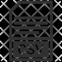 Csv File Format Icon