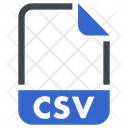 Csv Document File Icon