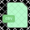 File Csv Paper Icon