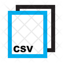 Csv Ile Format Icon