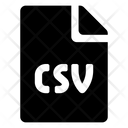 Format File Csv Icon