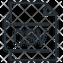 Csv File Csv Page Icon