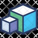 3 D Block Cube Hexahedron Icon