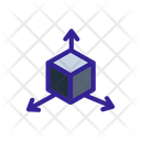 Cube D Coordinate Icon