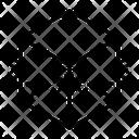 Cube Geometry D Icon