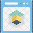 Cube Graphic Designing Model Icon