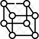 Cube Molecule Shape Icon