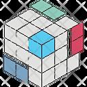 Rubiks Cube Puzzle Cube 3 D Cube Icon