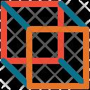Necker Cube Box Icon