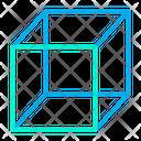 Box Hollow Cube Shape Icon