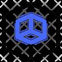 Cube Cut Icon