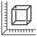 Cube measurement Icon