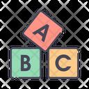 Cubes Alphabet Block Alphabet Icon
