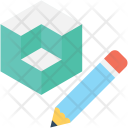Cubes Pencil Drafting Icon