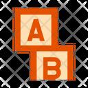 Cubes Letter Cubes Blocks Icon