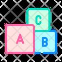 Letters Cubes Color Icon