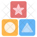 Cubes Kid And Baby Geometric Shapes Icon