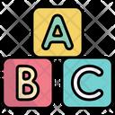 Cubes Education Abc Icon
