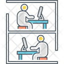 Cubicle Chair Desk Icon