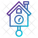 Time And Date Furniture And Household Cuckoo Clock Icon