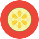 Cucumber Sliced Healthy Icon