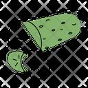Cucumber Salad Slicing Icon