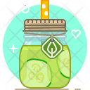 Cucumber Smoothie Drink Icon