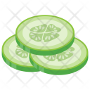 Cucumber Slices Vegetable Icon